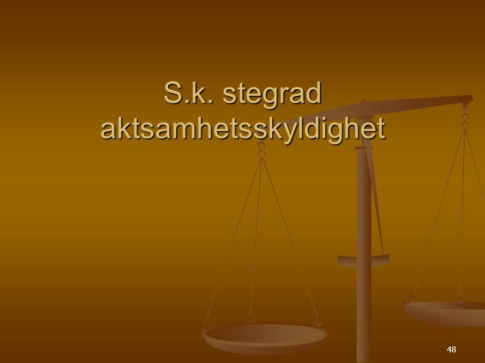 48 S.k. stegrad aktsamhetsskyldighet