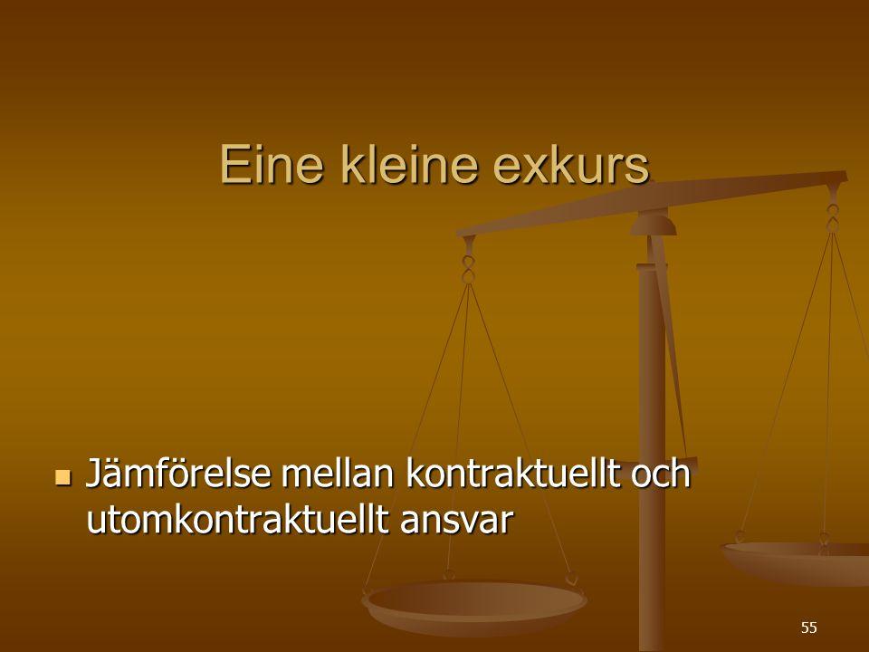 55 Eine kleine exkurs  Jämförelse mellan kontraktuellt och utomkontraktuellt ansvar