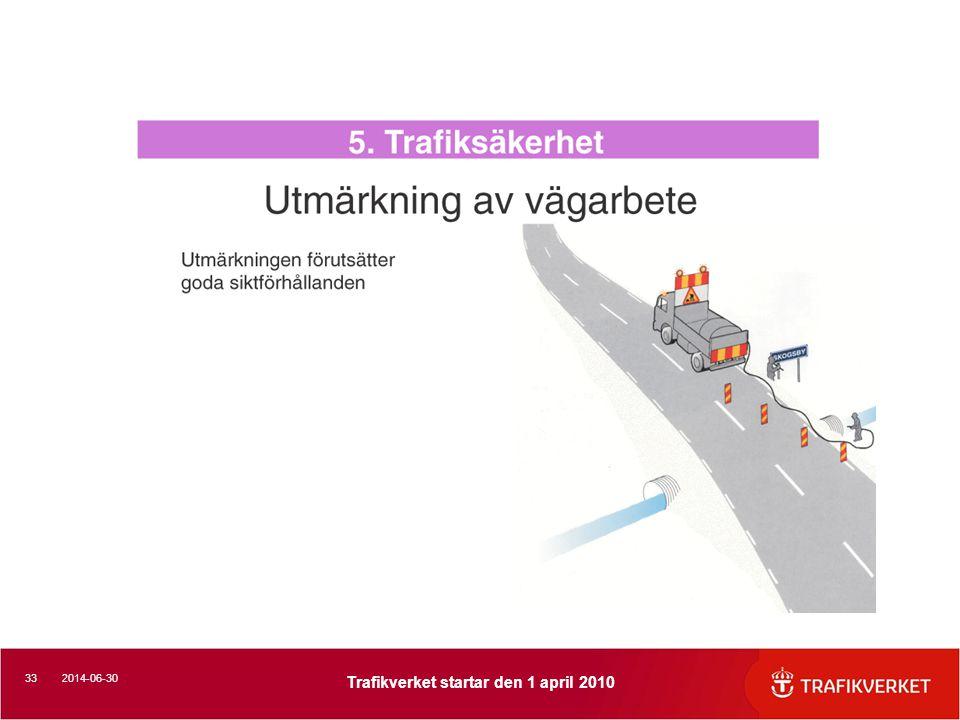 332014-06-30 Trafikverket startar den 1 april 2010