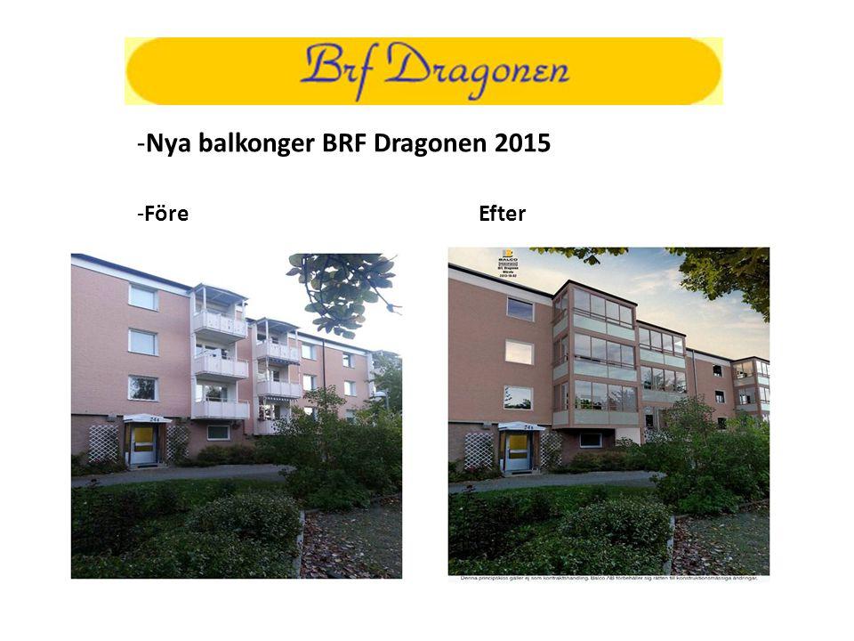 -Nya balkonger BRF Dragonen 2015 -FöreEfter