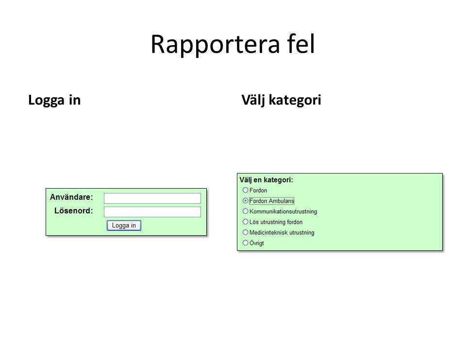 Rapportera fel Logga inVälj kategori