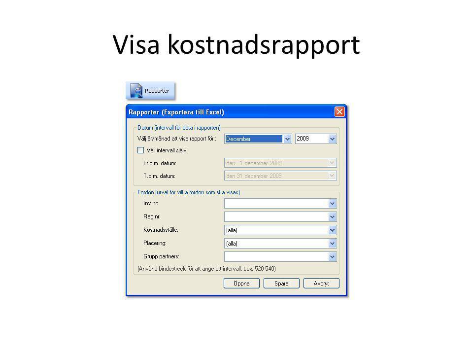 Visa kostnadsrapport