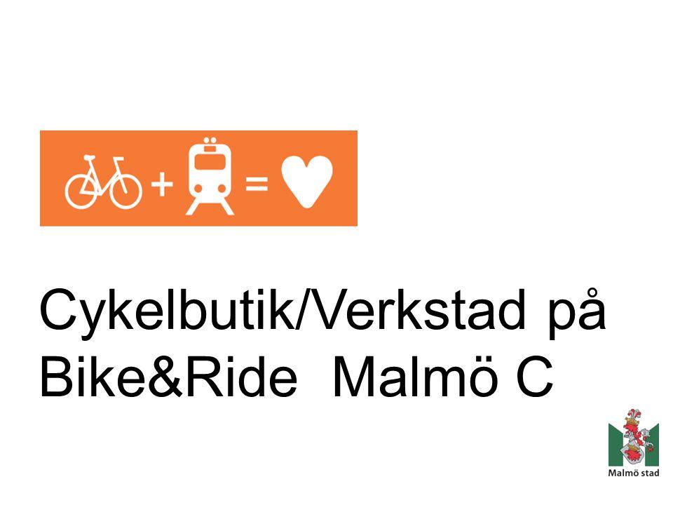 Cykelbutik/Verkstad på Bike&Ride Malmö C