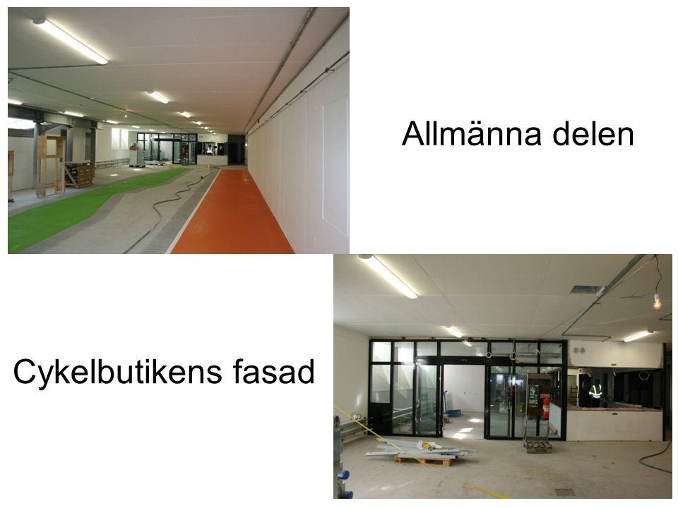 Cykelbutikens fasad Allmänna delen