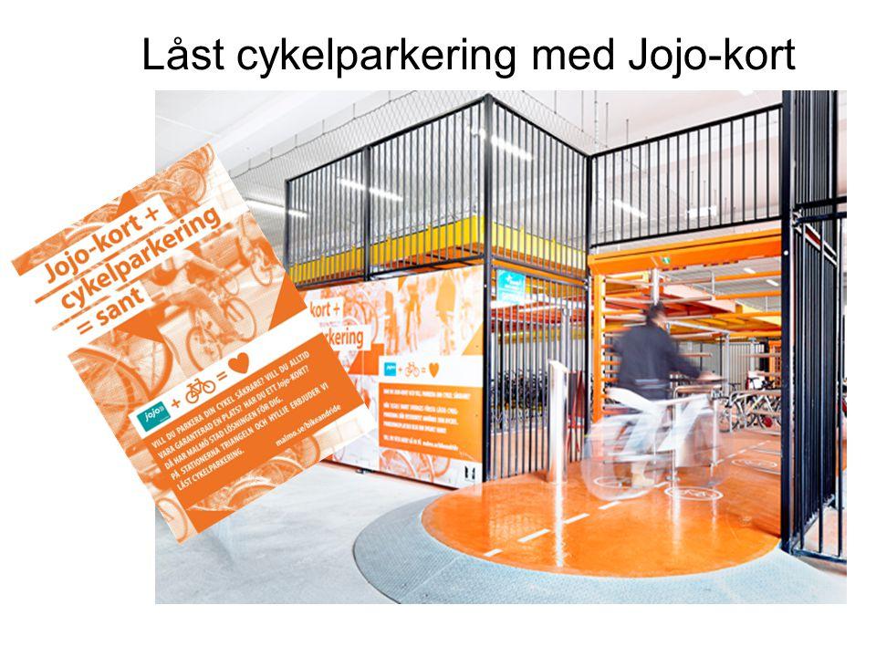 Låst cykelparkering med Jojo-kort