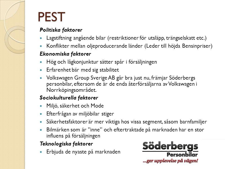 SUP Segmenteringsgrupp  Söderbergs 3 varumärken representerar olika segmenteringsgrupper  Audi  kvalité, sport, nytänkande ( personer med större plånböcker )  Skoda  riktar in sig på prisvärdhet, dvs.