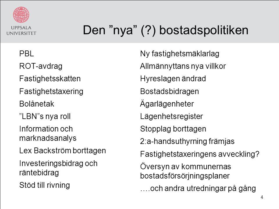 15 Kan fastighetsskatten motsvara statens anslag till transportprojekt? (miljarder SEK 2006)