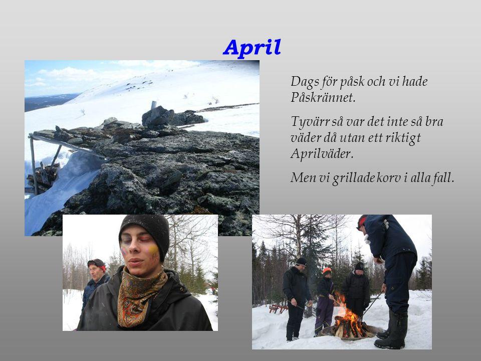 April Dags för påsk och vi hade Påskrännet.