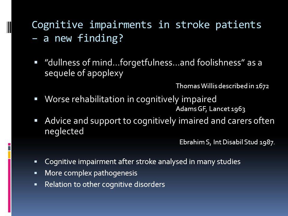Depression after stroke - consequences  Participation in / effect of rehablilitation lower  Higher stroke-mortality  Morris et al Am J Psych 1993; 150:124-9  More hospital care  Schubert et al.