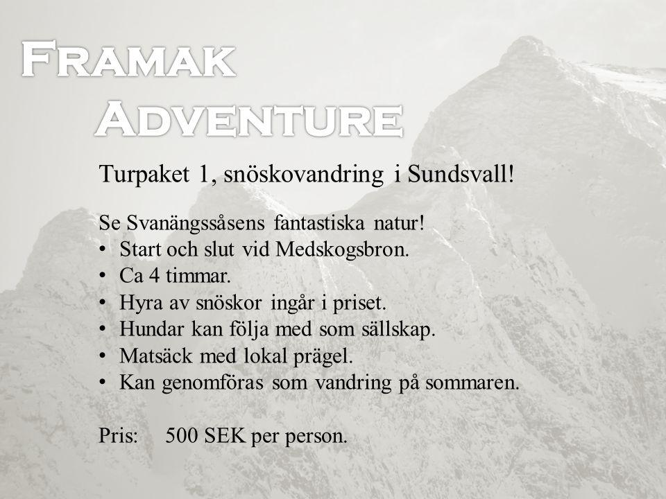 Turpaket 1, snöskovandring i Sundsvall! Se Svanängssåsens fantastiska natur! • Start och slut vid Medskogsbron. • Ca 4 timmar. • Hyra av snöskor ingår