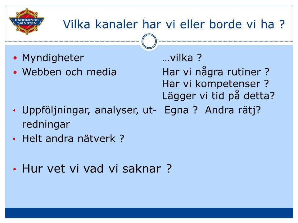 2.Ändrad lagstiftning .  Brandlagen, räddningstjänstlagen…  Och efter LSO .
