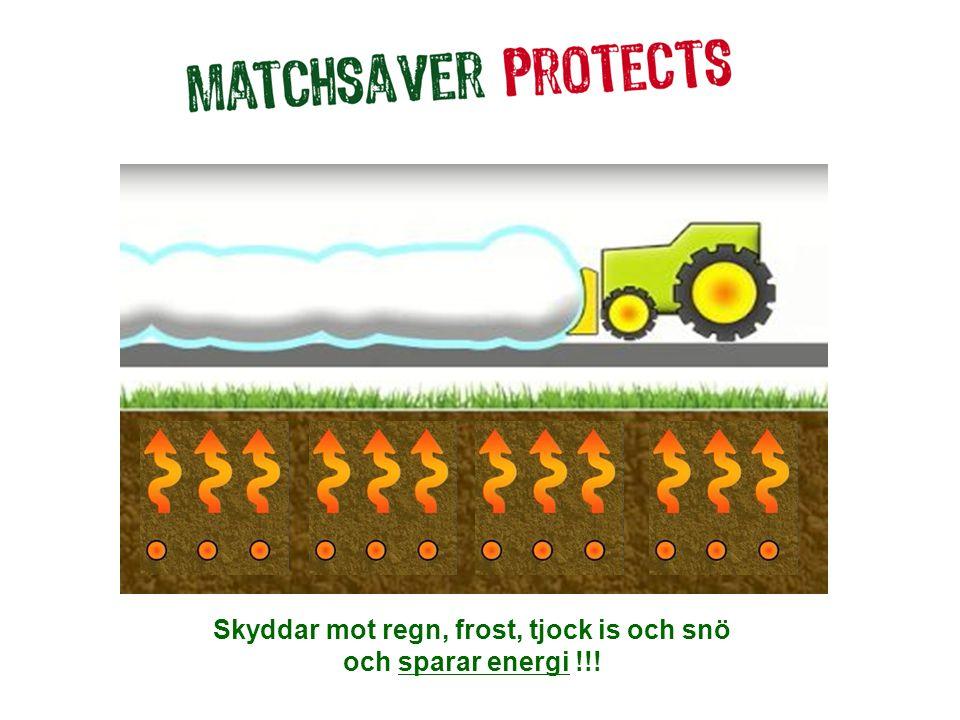 Skyddar mot regn, frost, tjock is och snö och sparar energi !!!