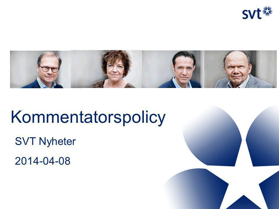 SVT Nyheter vill satsa på många profilerade reportrar och ett fåtal utsedda kommentatorer.