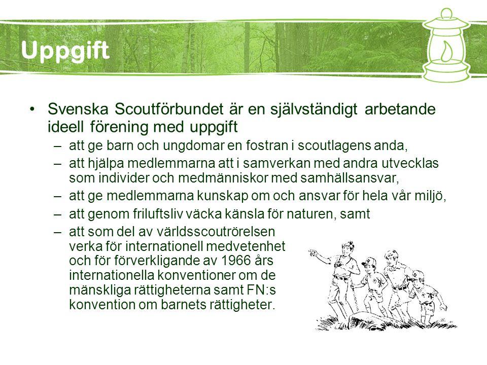 Grundprinciper –Svenska Scoutförbundet hävdar en kristen livssyn och respekterar varje livsåskådning som låter sig förenas med scoutlagen och scoutlöftet.