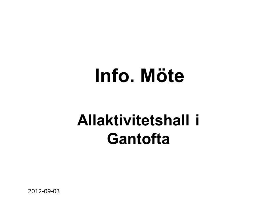 Info. Möte Allaktivitetshall i Gantofta 2012-09-03