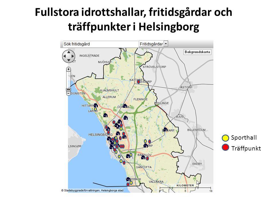 Fullstora idrottshallar, fritidsgårdar och träffpunkter i Helsingborg Sporthall Träffpunkt