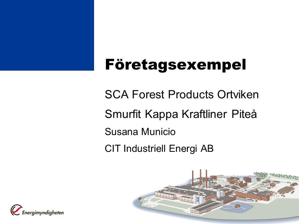 Företagsexempel SCA Forest Products Ortviken Smurfit Kappa Kraftliner Piteå Susana Municio CIT Industriell Energi AB