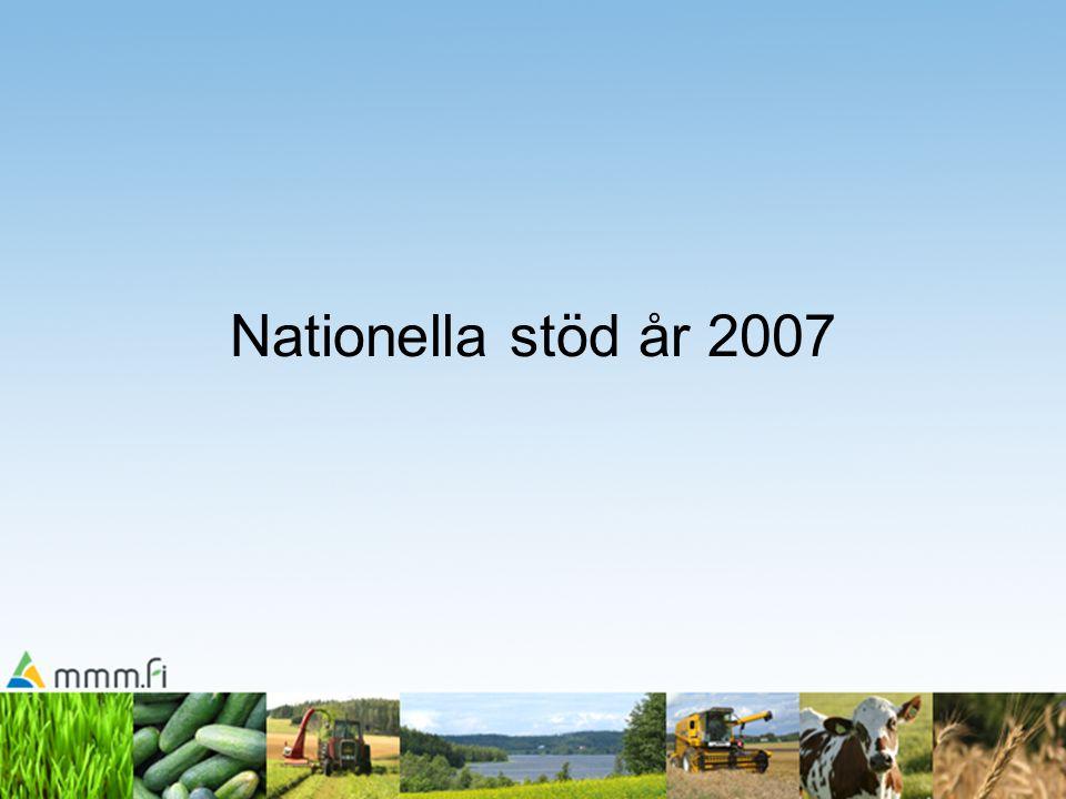 Nationella stöd år 2007