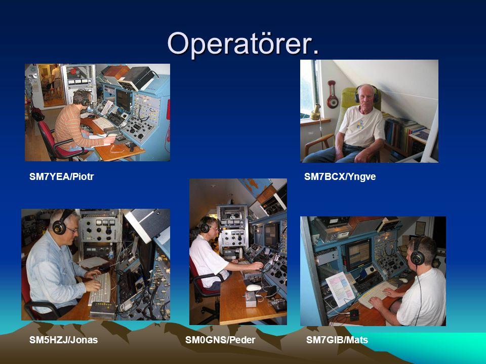 Operatörer. SM7YEA/Piotr SM7BCX/Yngve SM5HZJ/Jonas SM0GNS/Peder SM7GIB/Mats