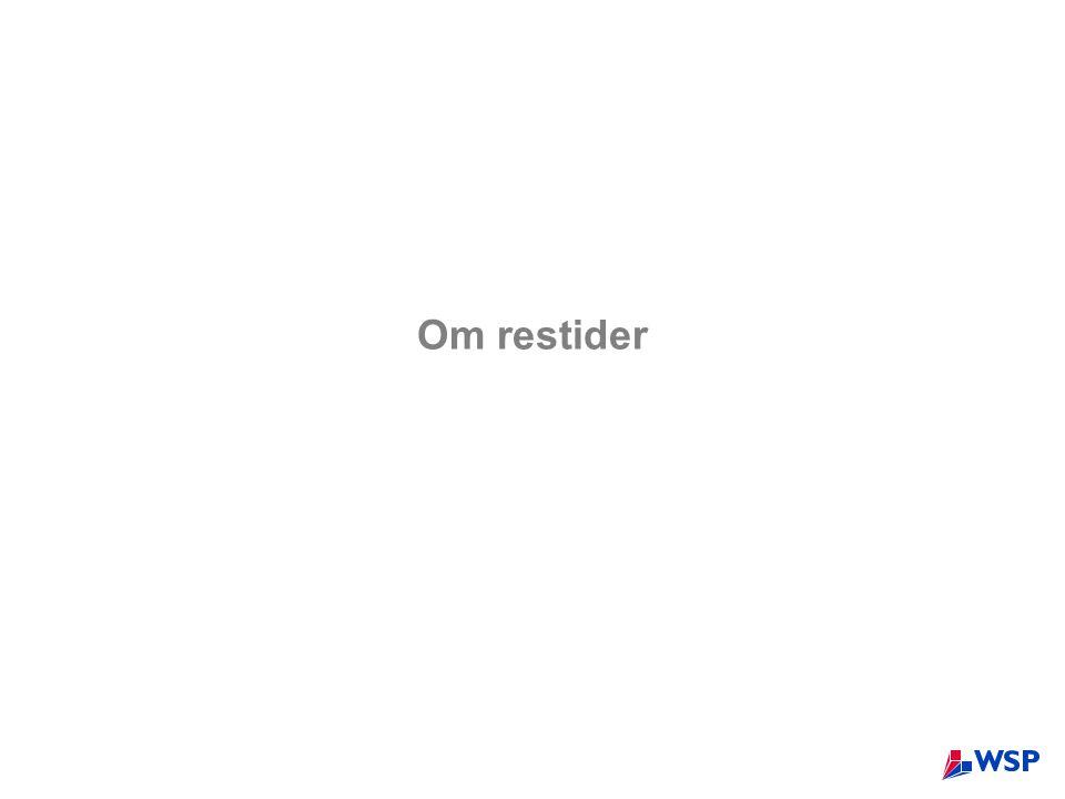 Om restider