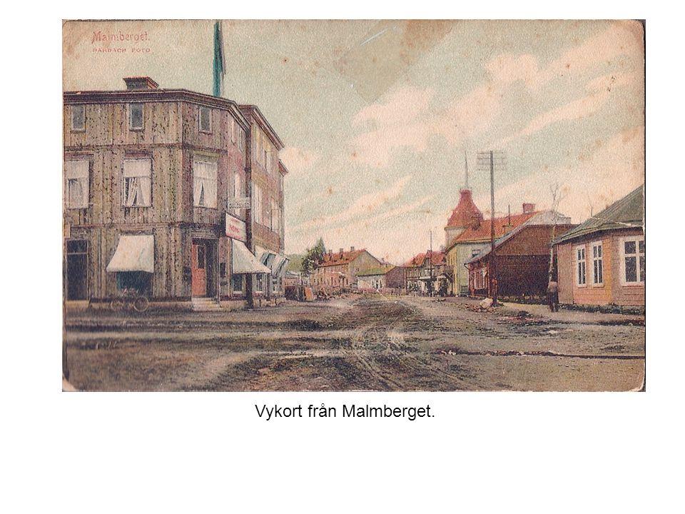 Vykort från Malmberget.