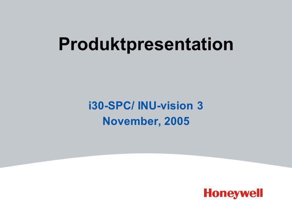 Produktpresentation i30-SPC/ INU-vision 3 November, 2005