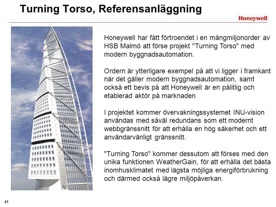41 Honeywell har fått förtroendet i en mångmiljonorder av HSB Malmö att förse projekt