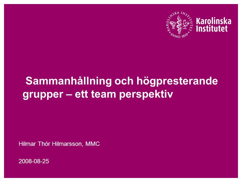 Ett perspektiv på hur teamwork fungerar i sjukvården Ineffektiv muntlig eller skriftlig kommunikation mellan vårdpersonal är en bidragande orsak faktor till majoriteten av alla missöden och skador som drabbar patienter i hälso- och sjukvården (Läkartidningen, 2008-06-24).