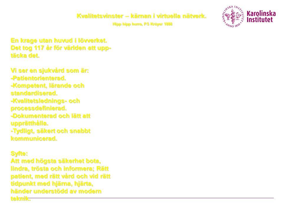 SBAR – modell för bättre kommunikation mellan vårdpersonal Situation Bakgrund Aktuellt tillstånd Rekommendation
