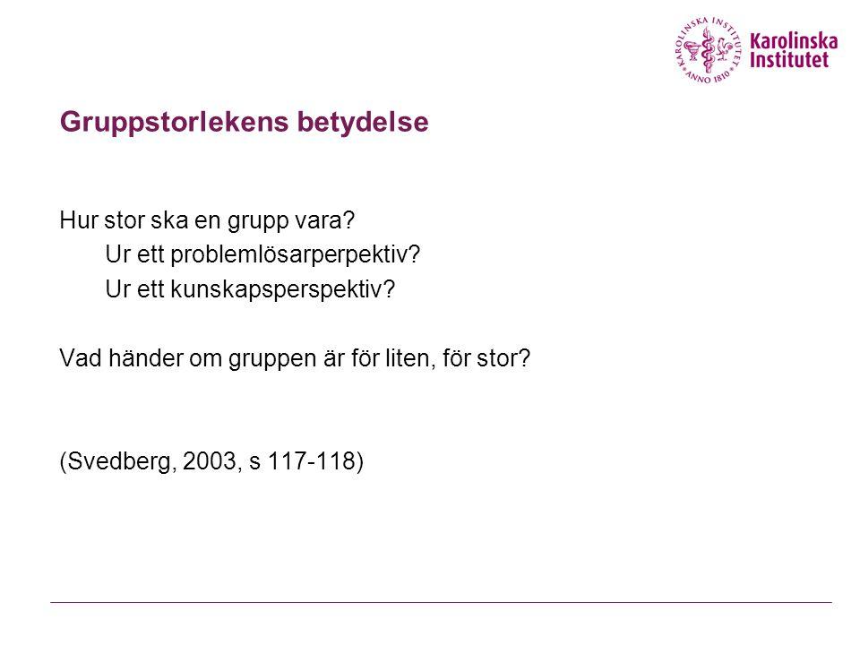 Kritik mot teambuilding Wheelan (1994): Många försöker få gruppen att gå från fas ett till tre utan att passera konflikter.