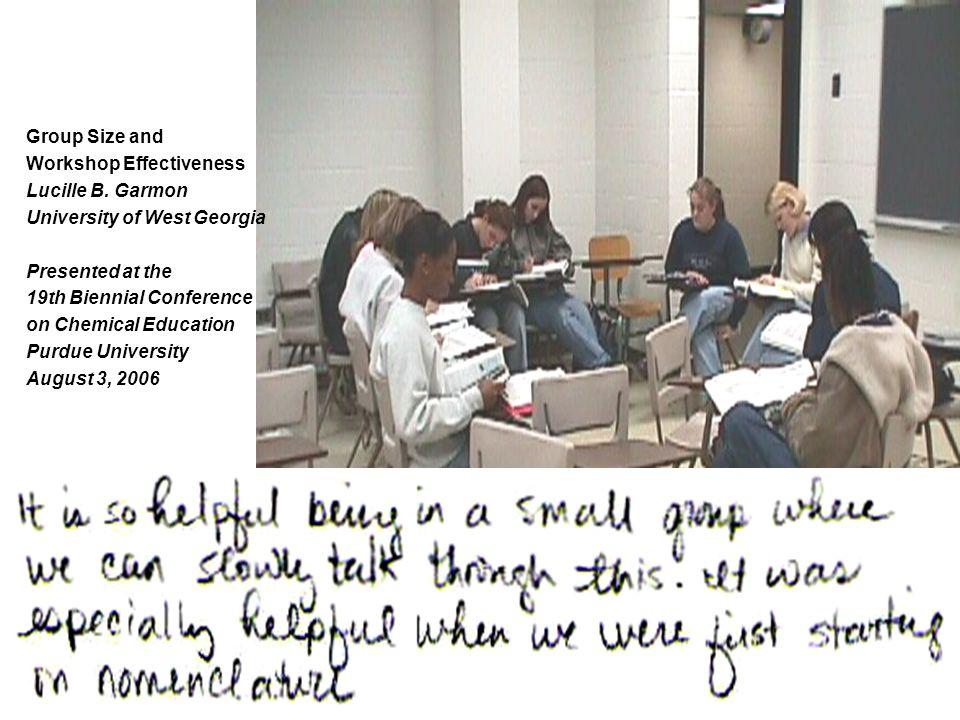 Gruppstorlekens betydelse Hur stor ska en grupp vara? Ur ett problemlösarperpektiv? Ur ett kunskapsperspektiv? Vad händer om gruppen är för liten, för