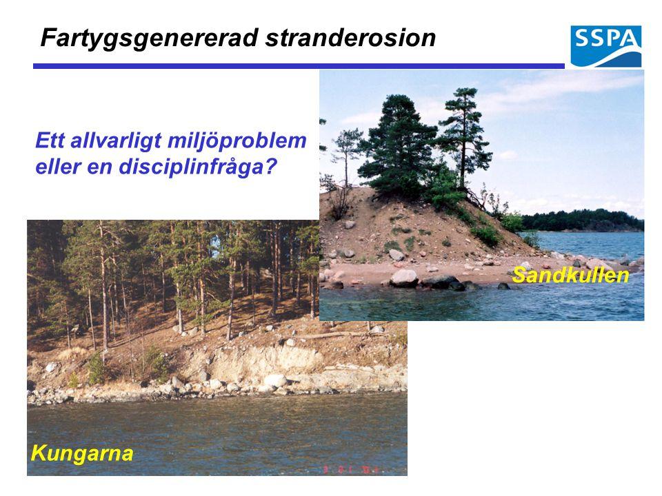Kungarna Sandkullen Fartygsgenererad stranderosion Ett allvarligt miljöproblem eller en disciplinfråga?