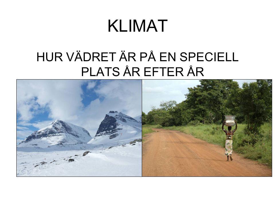 KLIMAT HUR VÄDRET ÄR PÅ EN SPECIELL PLATS ÅR EFTER ÅR