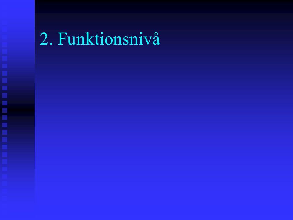 2. Funktionsnivå