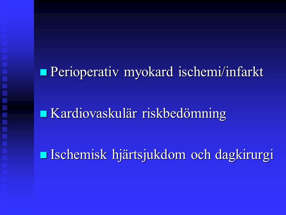 Dagkirurgi / Risk  Prospektiv 2 år, 38598 pat.