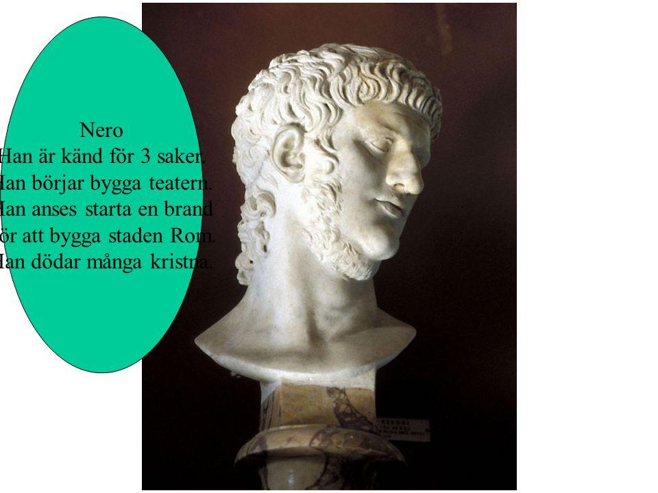 Julius Cesars adoptivson Får makten och han byter Namn. Han heter sedan Octavius. Han skapar fred i riket.