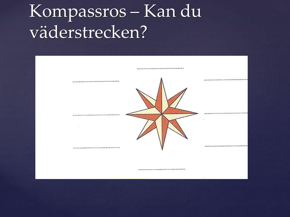 Kompassros – Kan du väderstrecken?