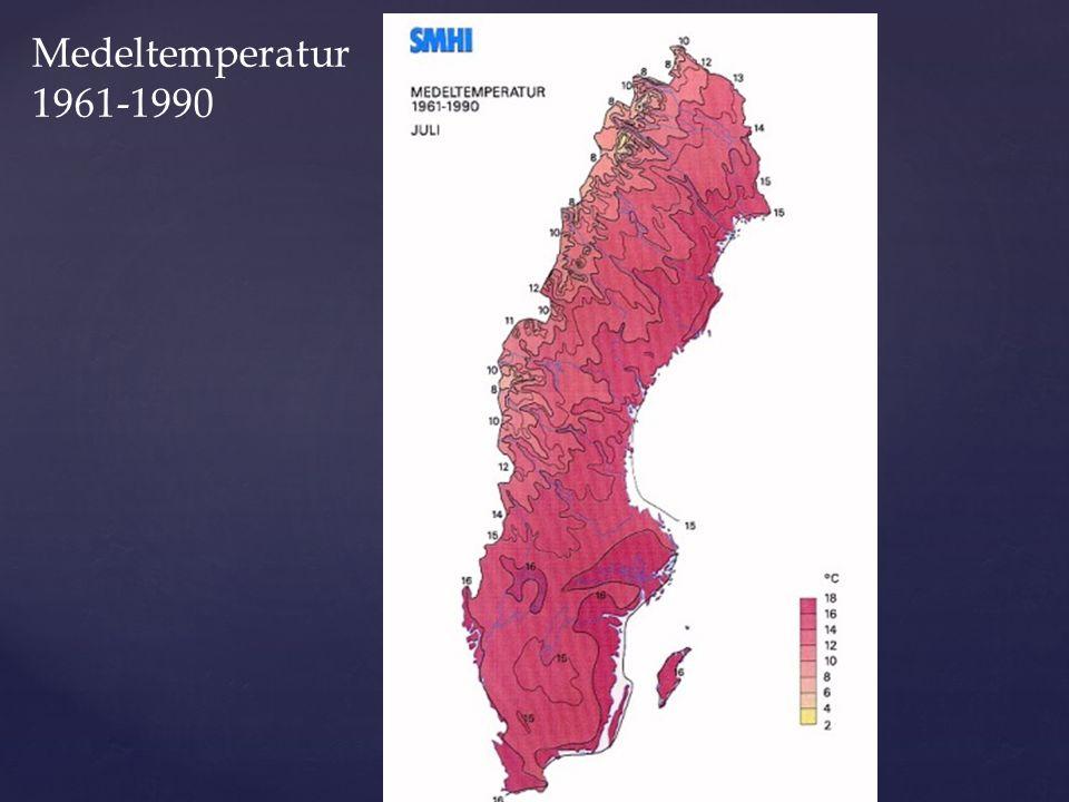 Medel- temperatur vintern i Europa