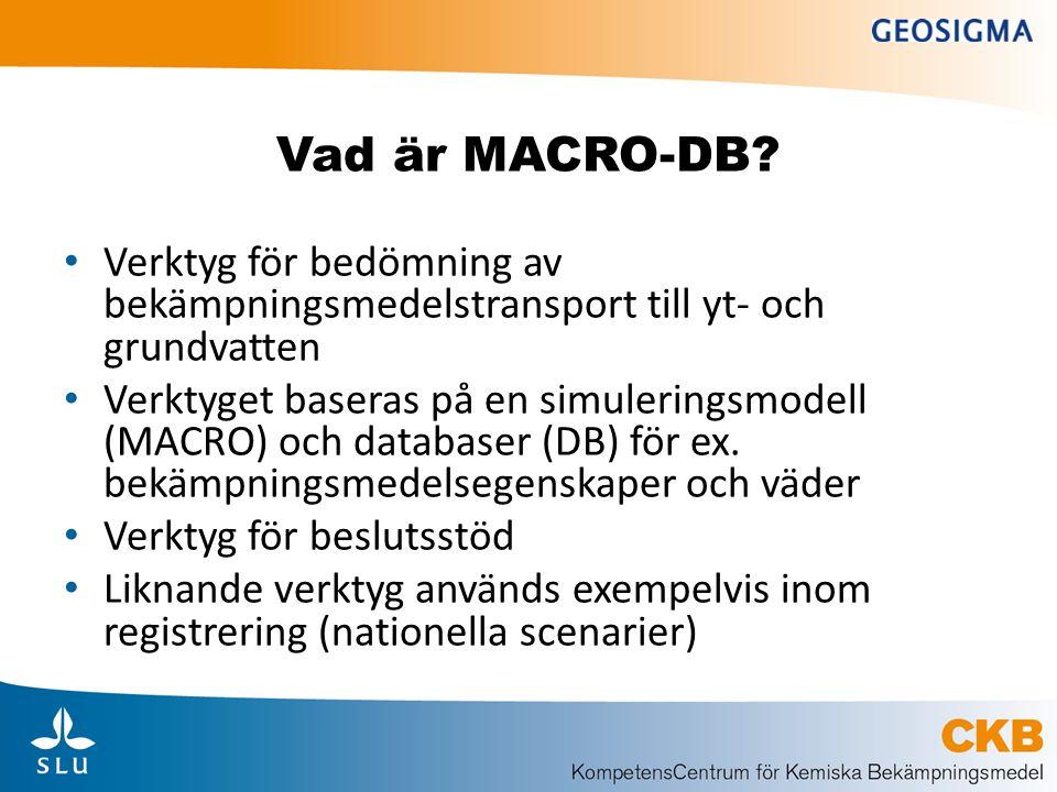 Bakgrund: tillståndsprövning i vattenskyddsområden • Hjälpmedel från SNV och KemI • Den s.k.