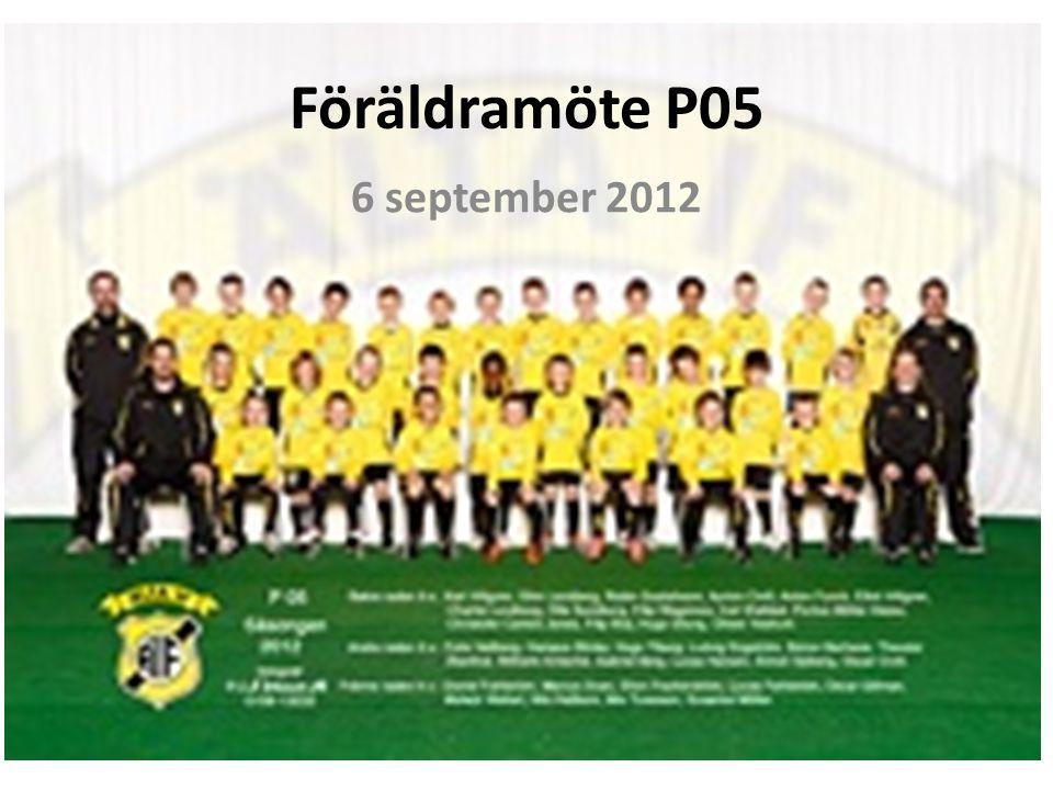 Föräldramöte P05 6 september 2012