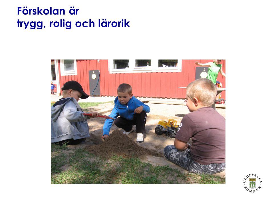Förskolan är trygg, rolig och lärorik