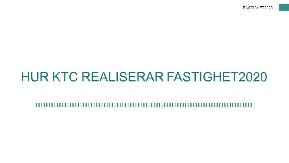 HUR KTC REALISERAR FASTIGHET2020 : FASTIGHET2020