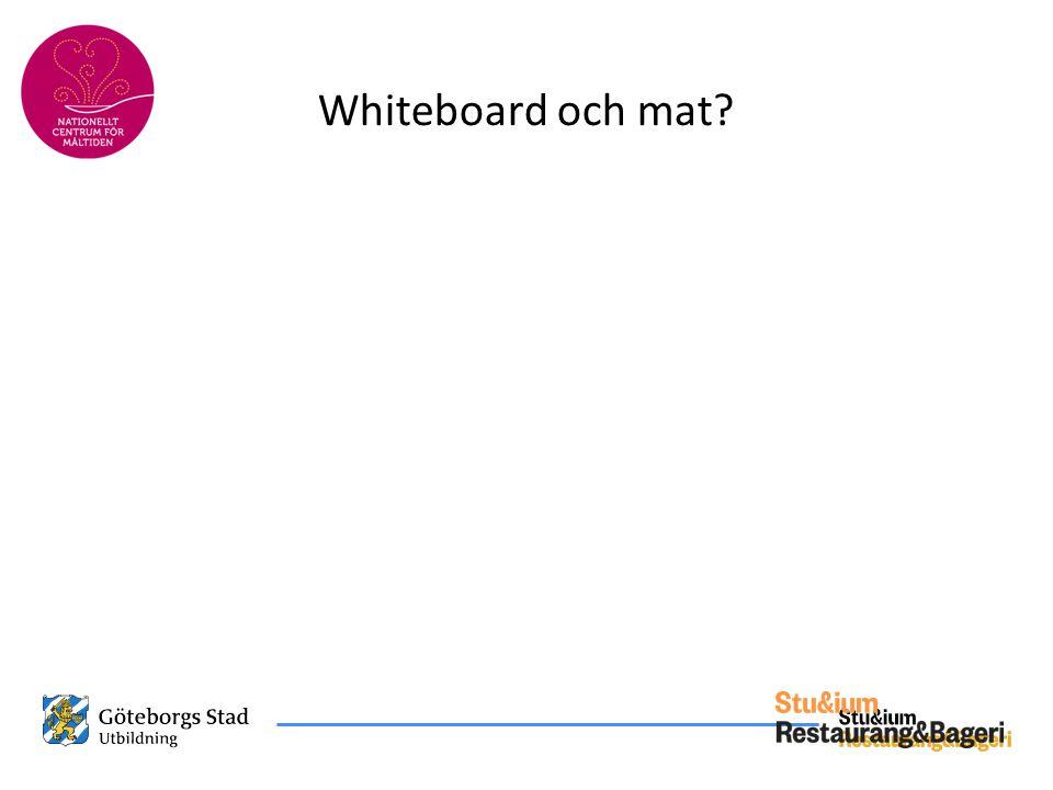 Whiteboard och mat?