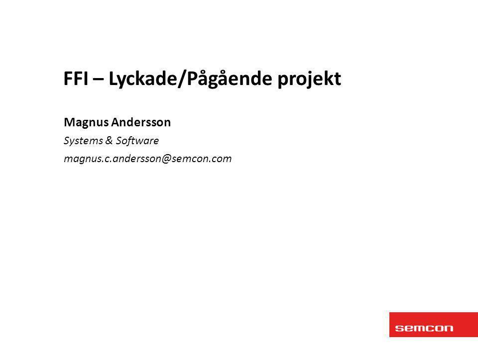 • SRIS (2006/2008) – Delfinansierat av IVSS – Semcon, Klimator, Vägverket, Bilia, Saab, Logica, Combitech, EIS, VTI • BiFi 1 (2010/2011) – Delfinansierat av FFI – Semcon, Klimator, Vägverket, Värmlandsåkarna • BiFi 2 (1011/2012) – Delfinansierat av FFI – Semcon, Klimator, Trafikverket, Värmlandsåkarna (Universitet: LTU, HDa, GU) • MobiRoma (2012/2013) – Finansierat av ERA-NET ROAD – Semcon, Klimator, Foreca, Pöyry • BiFi Demo (2012/2013) – Finansierat av Trafikverket – Semcon, Klimator, Trafikverket, Posten (Användare: Sveaskog, NCC, Svevia, Trafikverket) • Beläggningskvalitet (2013/2014) • BiFi Demo 2 (2013/2014) Bakgrund - FFI