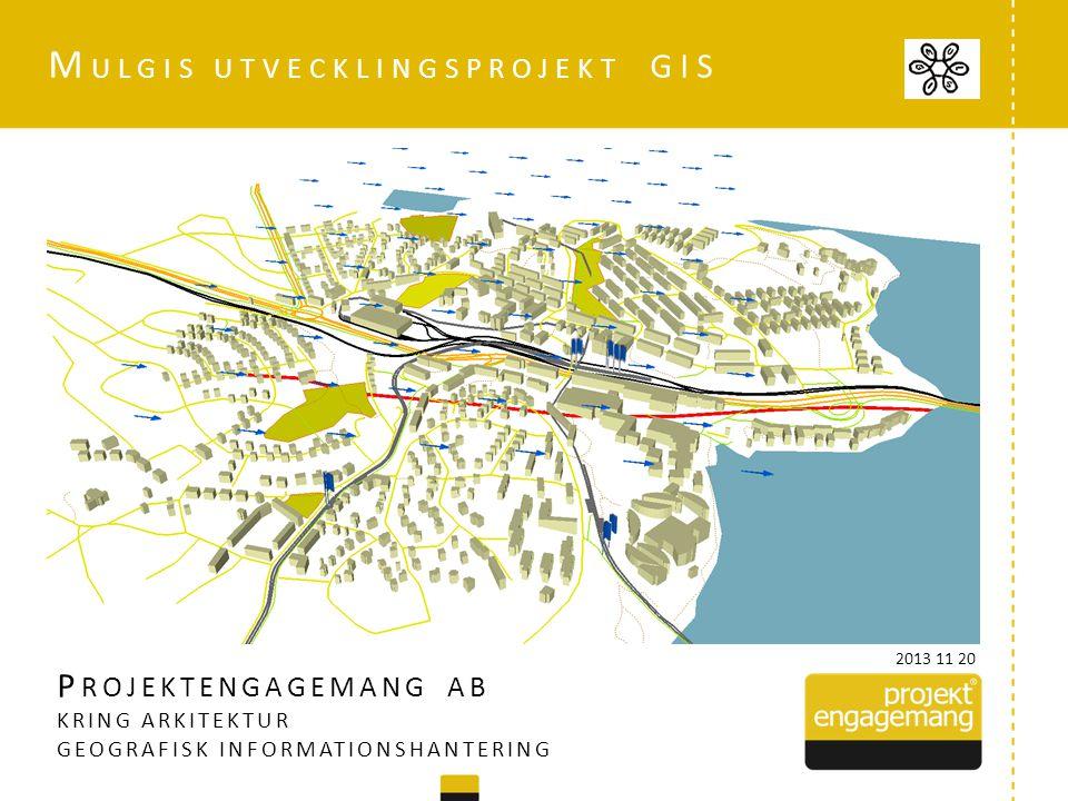 P ROJEKTENGAGEMANG AB KRING ARKITEKTUR GEOGRAFISK INFORMATIONSHANTERING M ULGIS UTVECKLINGSPROJEKT GIS 2013 11 20
