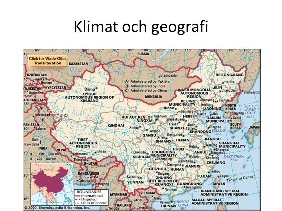 Klimat och geografi