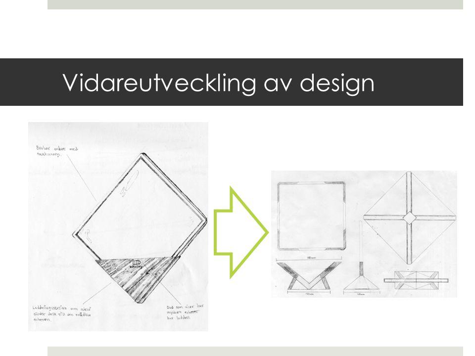 Vidareutveckling av design