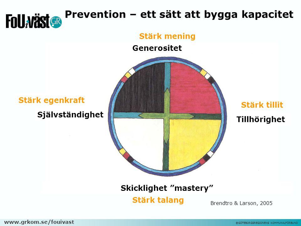 """www.grkom.se/fouivast ©GÖTEBORGSREGIONENS KOMMUNALFÖRBUND Generositet Tillhörighet Skicklighet """"mastery"""" Självständighet Stärk tillit Stärk mening Stä"""