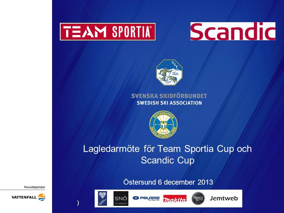 Lagledarmöte för Team Sportia Cup och Scandic Cup Östersund 6 december 2013 )