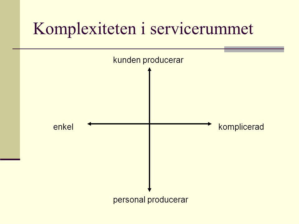 Komplexiteten i servicerummet enkelkomplicerad kunden producerar personal producerar